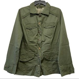 Penningtons Lightweight Army Green Utility Jacket